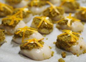 Coquilles Saint Jacques aux pistaches et à l'orange 3