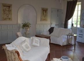 Grand salon en chambre d'hôtes de charme Ronel Tarn