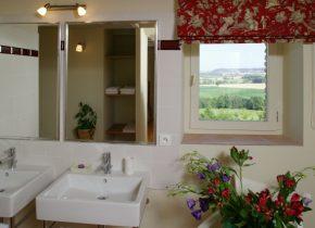salle d'eau moderne avec douche , très claire